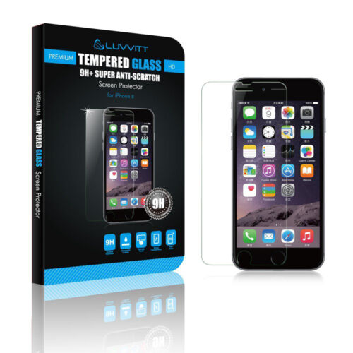 Luvvitt Tempered Glass Screen Protector for iPhone 8 - Crystal Clear