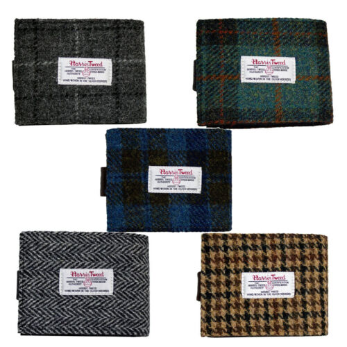 Harris Tweed Mens Wallet with Coin Section