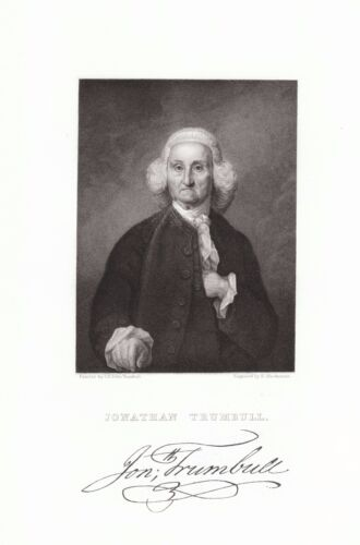 Jonathan Trumbull, Sr 1710-1785 Governor of Connecticut