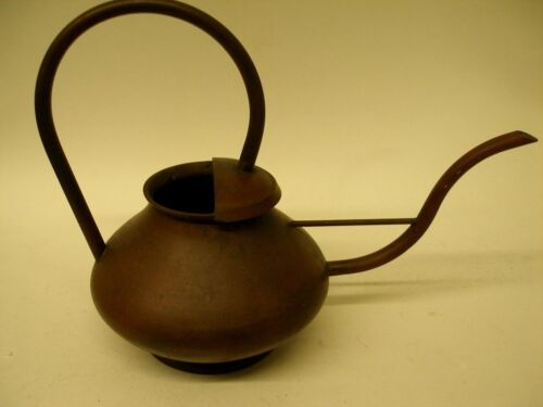 ANTIQUE ART DECO ARTS & CRAFTS SOLID COPPER KETTLE MODERNISTIC DESIGN