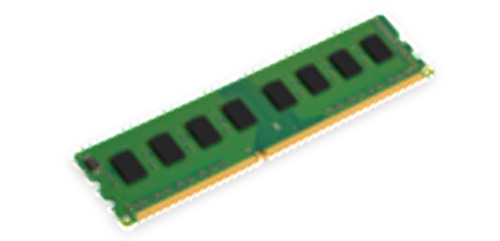 4GB 1600MHz Module Single Rank for selected brands