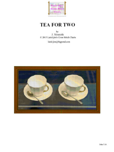 TEA FOR TWO - cross stitch chart - PDF file