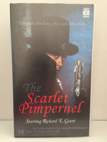 THE SCARLET PIMPERNEL ~2 x RARE VHS VIDEOS~RICHARD E GRANT+MARTIN SHAW ~266 MINS