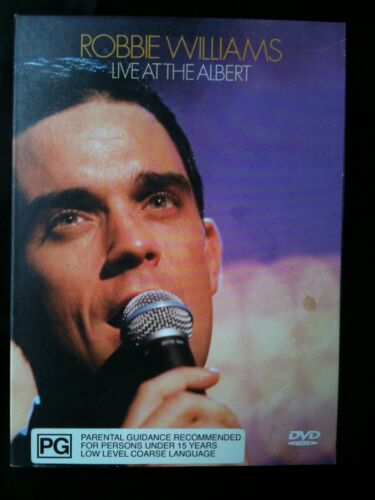 ROBBIE WILLIAMS ~ LIVE AT THE ALBERT ~ PAL DVD ~ **FREE POST