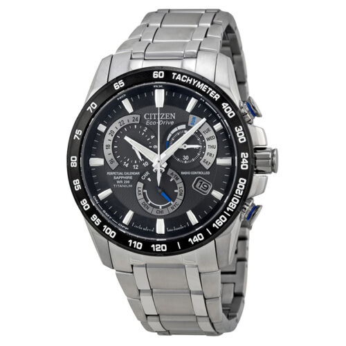 Citizen Perpetual Chrono A-T Eco-Drive Titanium Chronograph Mens Watch AT4010-50