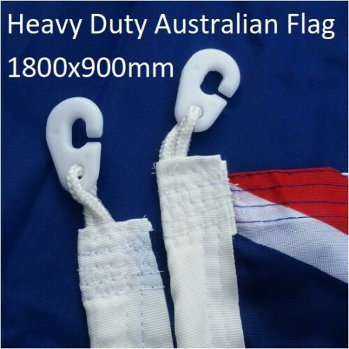 * FREE SHIPPING *  Heavy Duty Australian Flag 1800x900 Official Size Polyester