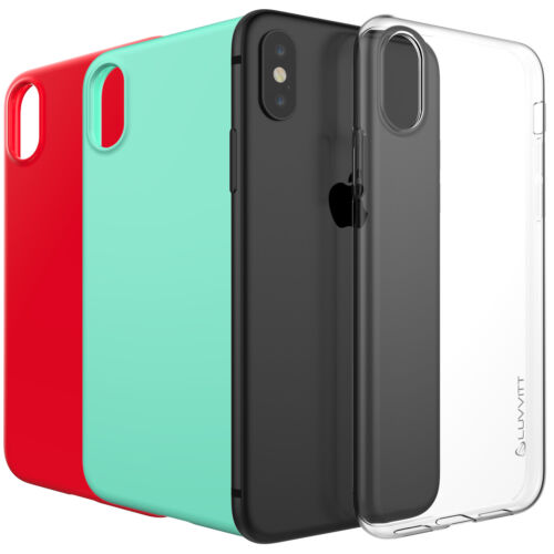 Luvvitt Clarity Case for iPhone XS / X Slim Flexible TPU Rubber Light Cover