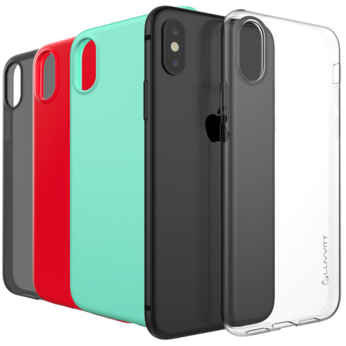 Luvvitt Clarity Case for iPhone X Slim Flexible TPU Rubber Light Cover