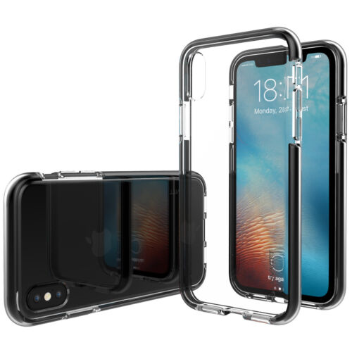 Luvvitt ProofTech Drop Protection Hybrid Case for iPhone XS / X - Clear / Black