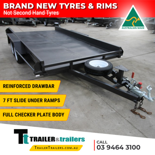 """14x6'6 TANDEM AXLE CAR CARRIER BOX TRAILER 