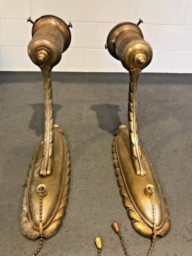 TWO VINTAGE WALL SCONCES