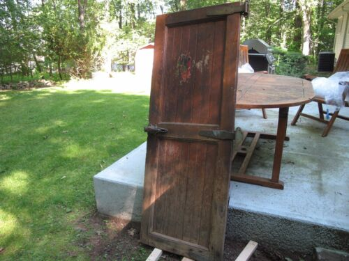 ANTIQUE WALK IN MEAT LOCKER  Refrigerator, Wood Door, HARDWARE ***OFFERS NEEDED