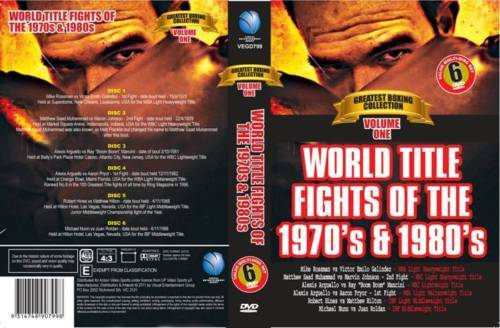 WORLD TITLE FIGHTS 1970's & 1980's - 6 BOXING DVD COLLECTORS SET - ON SPECIAL