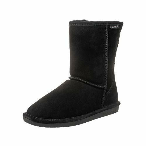 Bearpaw Women's Emma Hickory/Champagne Short Fur Lined Warm Snow Boot