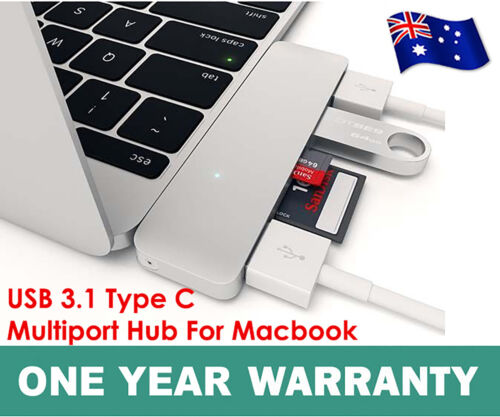 Macbook AIR USB 3.1 Type-C to USB 3.0 HUB USB-C 3IN1 Charging Port Adapter Cable
