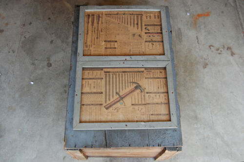 Wall Hung Industrial Storage Cabinet w/ 1952 Chevrolet Inserts GMC Hardware
