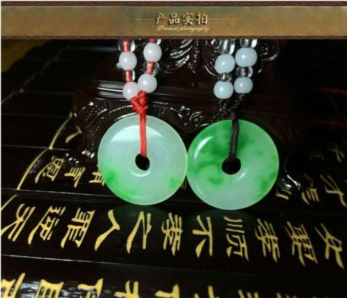 Natural Chinese beautiful jade hand-carved Lucky Jade pendant bring peace 1 inch