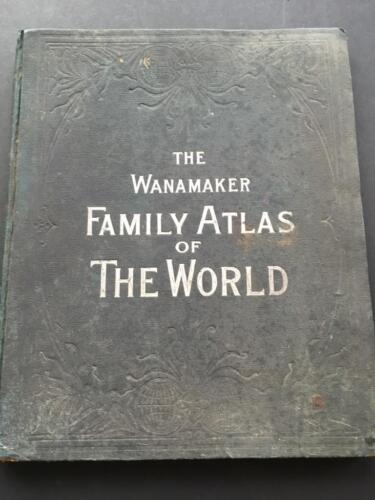 1895 A.L.Smith, Wanamaker family world atlas. 147 maps & plans, large city maps