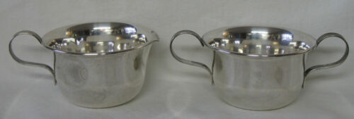 Lenox Sterling Silver Creamer and Open Sugar Bowl 2 piece set