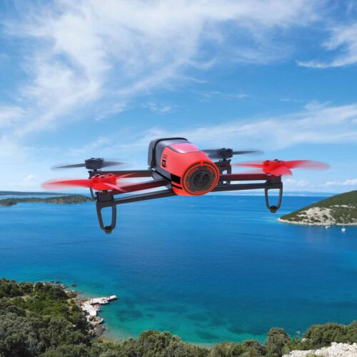 NEW Parrot Bebop Quadcopter Camera Drone 14MP Full HD 1080p RED + Free Gift!