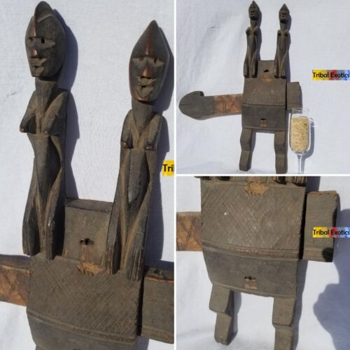 OLD Dogon Home Granary Door Lock Figure Sculpture Statue Mask Tribal African Art