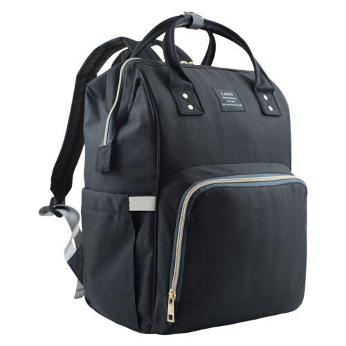 Lequeen Mummy Maternity Nappy Diaper Bag Large Capacity Baby Travel Backpack US