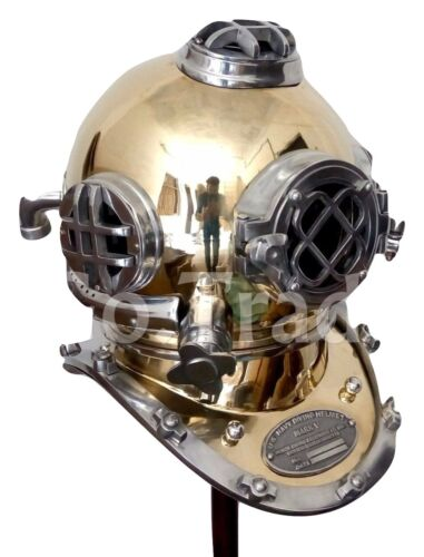VINTAGE SOLID BRASS SEA SCUBA DIVERS DIVING HELMET ANTIQUE US NAVY MARINE GIFT