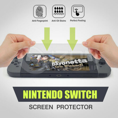 1/2X For Nintendo Switch Screen Protector 9H Full Cover Ultra-Clear Zero-Bubble