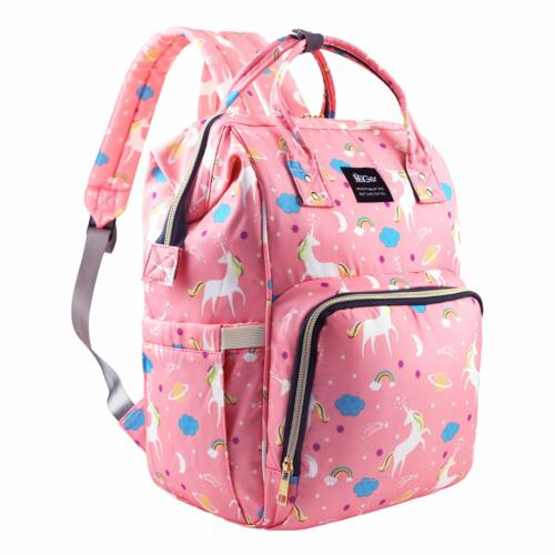 Diaper Bag Backpack Large Capacity Unicorn Baby Travel Bookbag for Boys Girl