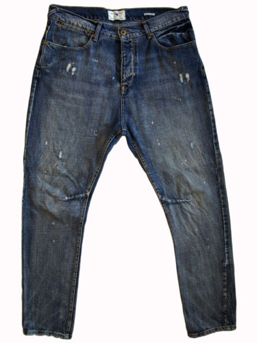 BLACKSMITH & Co reg rise buttonfly jeans 32S (34 x 29) loose tapered distressed!