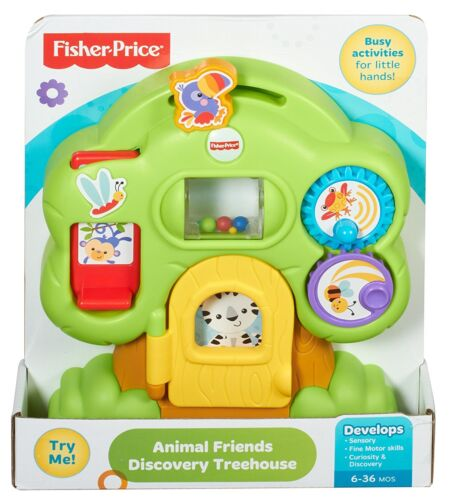 Fisher-Price Animal Friends Discovery Treehouse Fun Take Along Baby Activity Toy