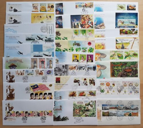 Malaysia Complete Yearly Set of 26 FDC issued in 2007 (a nice collection lot)