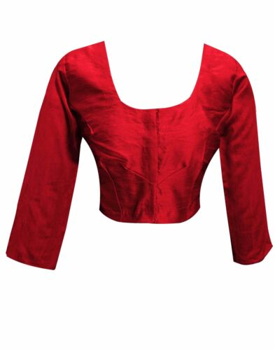 Indian women's Asian Bollywood fashion stitched saree BLOUSE Crop Top Choli 4001