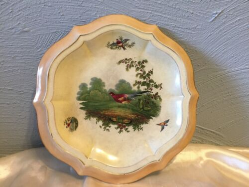 RARE Pheasant plate backstamped S. Johnson Ltd. Burslem Britannia Pottery