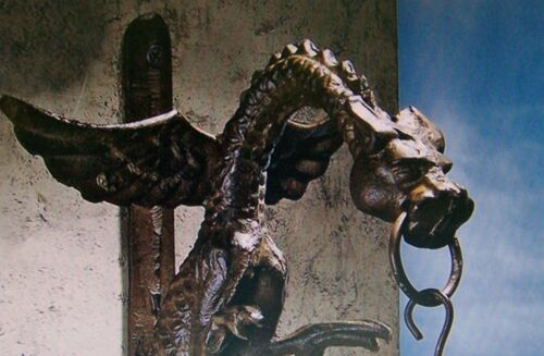 door Knocker,iron dragon antique style