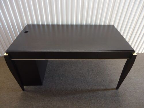 Gorgeous and Unique Wood Table Desk Mid-century modern in Dark Wood Tone