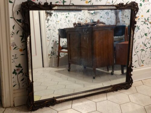 VINTAGE ANTIQUE AMAZING WOOD CARVED MIRROR
