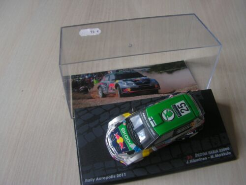 voiture  1/ 43  rally  course 2011  skoda fabia    serie  12