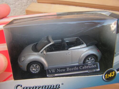 voiture   1/43   ww new beetle cabriolet  ( cararama)  serie 15
