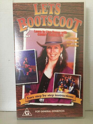 LETS BOOTSCOOT VOLUME 2 LEARN TO LINE DANCE / DANCING CINDY TRUELOVE ~ VHS VIDEO