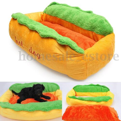 Hot Dog Washable Cotton Kennel Dog Nest Puppy Pet Bed House Warm Cushion Pad Mat
