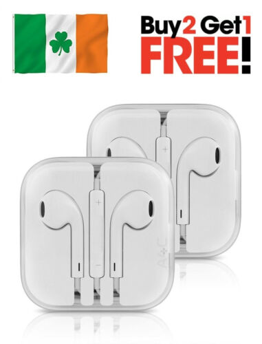 Earphones Ear Pods Earbuds for Apple iPhone 4 5 6 7 8 10 Headphones With Mic  <br/> BUY 2 GET 1 FREE✓✓IRISH SELLER✓✓FREE DELIVERY✓✓