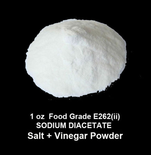 1 oz  Food Grade Sodium Diacetate E 262(ii)  -   Salt + Vinegar  flavouring -