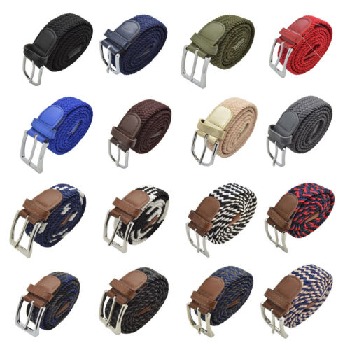 Men's Elastic Fabric Woven Expandable Braided Stretch Belts