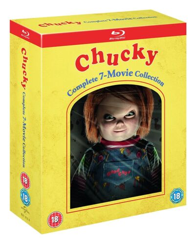 """CHUCKY 1-7 COMPLETE COLLECTION BOX SET 7 DISC BLU-RAY RB AUS """"NEW&SEALED"""""""