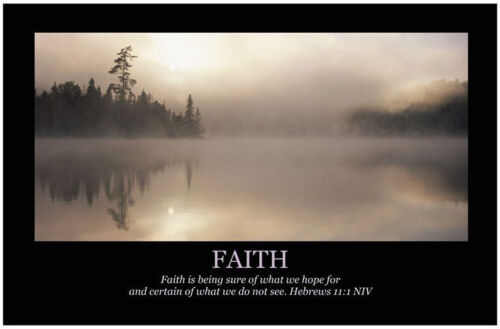 FAITH Christian Art Print Poster, Inspirational Motivational Bible Scripture
