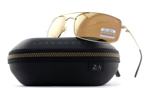 POLARIZED New SERENGETI TREVISO Le Mans 24h Sun Stained Gold Sunglasses 8484