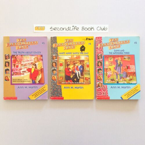 (Vintage) THE BABY SITTERS CLUB BOOKS #3, 4 & 5 ~ Ann M. Martin. Rare Covers!