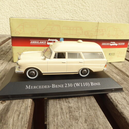 Atlas Ambulance Collection MB Mercedes-Benz 230 W 110 Binz Camion dans Emballage