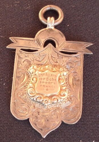 WWI  2nd AUSTRALIAN INFANTRY BRIGADE SILVER & GOLD 1916 FRANCE FOB BADGE1914 - 1918 (WWI) - 13962